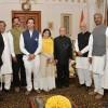 Sri M & the Walk of Hope team meet the President at Rashtrapati Bhavan, New Delhi