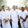 C M of Kerala, Oommen Chandy, joins the Walk of Hope at Nemom, 17 January 2015