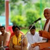An intimate Satsang on Gurupoornima, Pandit Kanta Prasad Mishra looks on, Nashik, Maharashtra