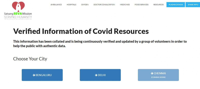 Sri M launches the Covid-19 Info Portal