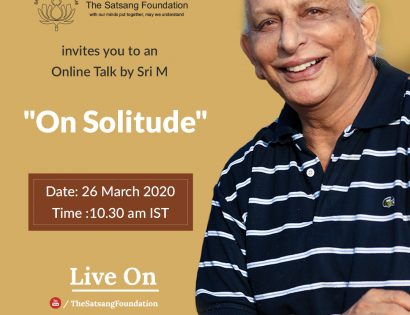 Sri M Online Talk On Solitude