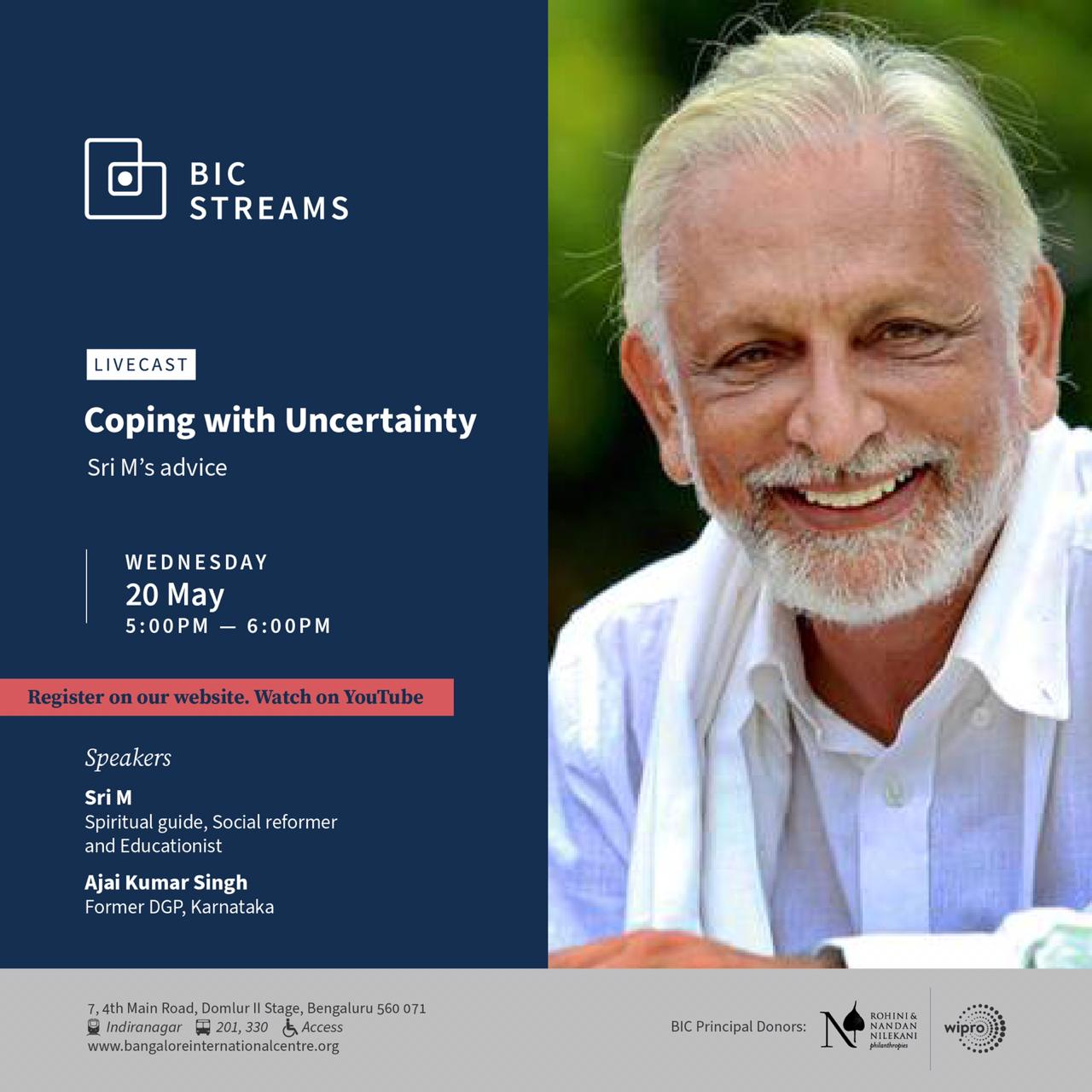 Sri M BIC Streams Coping with Uncertainty May 2020