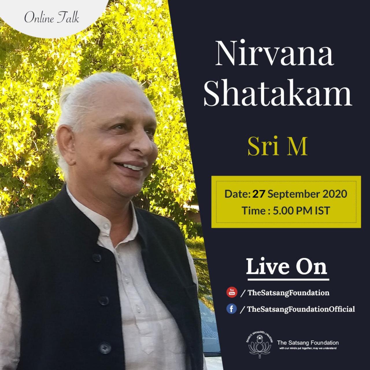 Sri M Online Talk 27 September 2020